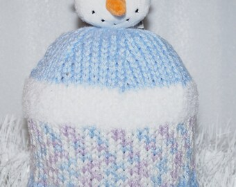 """Hand made"" snow fun snowman boy or girl child Hat"