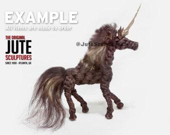 Jute Unicorn - Medium - Color Blended