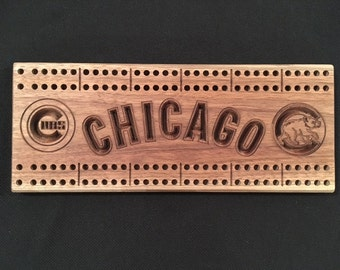 Chicago Cubs cribbage board