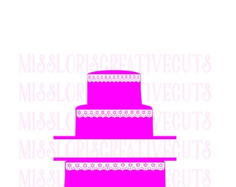 Wedding cake split letter  SVG Cut file  Cricut explore file  decal wood signsscrapbook vinyl decal wood sign t shirt cricut cameo