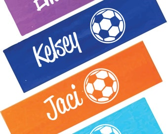 Personalized Soccer Headband -  Stretch Headband - Sports Gifts - Soccer Gifts - Team gifts