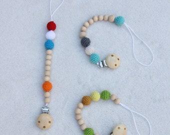 Crochet pacifier cord