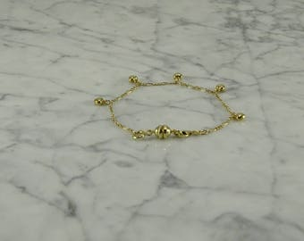 "14K Yellow Gold Heart Bracelet (7 1/2"")"