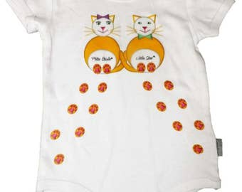 "Bodysuit/onesie ""P cats ' little star"""