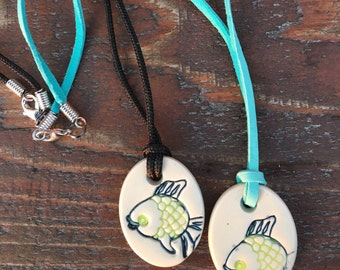 Ceramic Fish Necklace, Fish Necklace