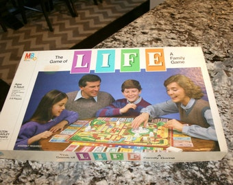 1985 The Game of Life//Board Game//By Milton Bradley Co.//Ages 9 to Adult//2 to 8 Players//Vintage Board Game