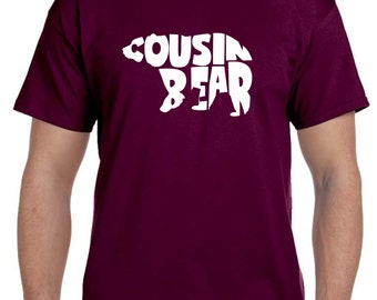 Cousin, Big Cousin Shirt, Cousin Gift, Cousin Bear, Big Cousin, Cousin Shirts, Funny Tshirt, Cousin Birthday Gift, Christmas Stocking,