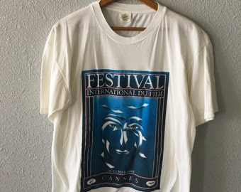 1988 Cannes Film Festival Vintage Cannes France 1980's T Shirt