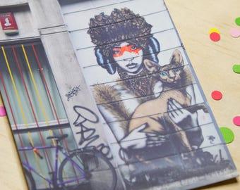 London Wall Art Postcard