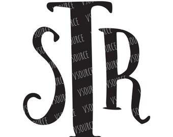Svg - Svg Fonts - SVG Monogram Font - Monogram Font SVG - Font SVG - Monogram Fonts for Cricut - Critcut Fonts -Svg Font for Cricut