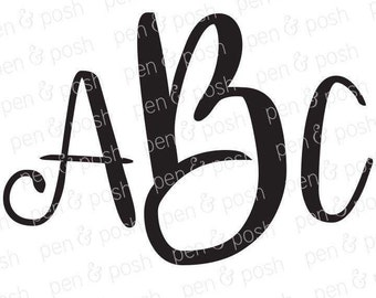 Svg - SVG Fonts - Monogram Fonts - Monogram Font SVG - Font Svg - Monogram SVG - Monogram Fonts for Cricut - Svg Fonts for Cricut