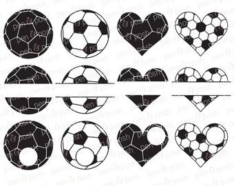 Svg - Soccer Monogram SVG - Soccer Heart SVG - Soccer Ball SVG - Soccer Ball Monogram Svg - Soccer Svg - Soccer Monogram Clipart