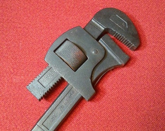 "Vintage G.T.D. Greenfield 36"" Pipe Wrench Adjustable Heavy Duty Fireman's Hydrant Wrench"
