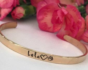 Dog Mom Gift Pet Remembrance Bracelet, Pet Memorial Bracelet, dog Memorial Jewelry, Pet Loss Gift Animal Lover Gift  Bracelet, Dog Bracelet