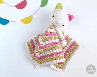 Kitty Lovey Pattern | Security Blanket | Crochet Lovey | Baby Lovey Toy | Blanket Toy | Lovey Blanket PDF Crochet Pattern