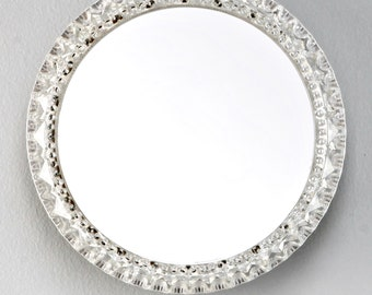REDUCED Mid-Century Small Round Light Up Wall Mirror [4846]