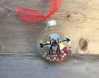 Joy ornament, Christmas ornament, joyful ornament, joy