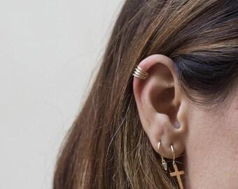 Dainty ear cuff - Silver Earcuff - Gold plated ear wrap - Non pierced ear cuff - minimalist ear cuff - minimal jewelry - dainty jewelry