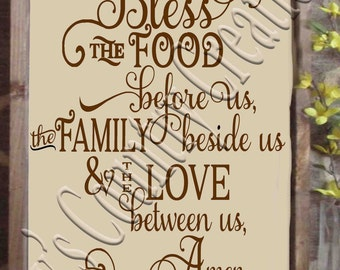 Bless the food before us amen Vertical    SVG, PNG, JPEG