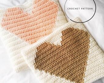Crochet PATTERN // Heart Blanket PATTERN