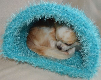 Pet Cuddle sack; Very soft and warm wool dog bed; Chihuahua bed; Dog house