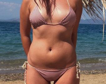 bikini set boho bikini retro bikini Triangle bikini  bohemian beachwear boho swimsuit