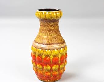Bay pottery vase, 64-17, vintage ceramic vase, 60s