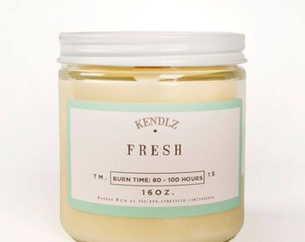 Fresh, Soy Candle, Phthalate Free, Gifts under 30, Gifts for her
