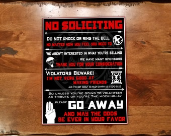The Hunger Games No Soliciting Sign