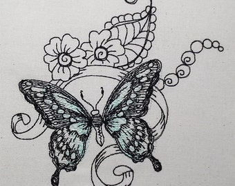 Butterfly green sppringtime 5x7
