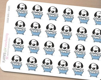 Dog Bath / Groom Planner Stickers perferct for Erin Condren, Kikki K, Filofax and all other Planners