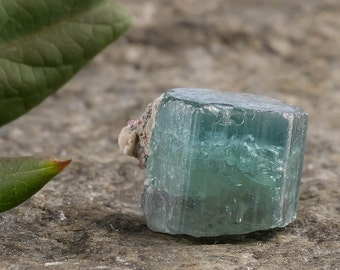 4.1g Blue TOURMALINE Crystal from Namibia - for Jewelry Making, Raw Tourmaline Ring, Tourmaline Necklace & Rough Tourmaline Jewelry 23350