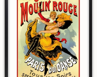 Moulin Rouge - French Art Poster