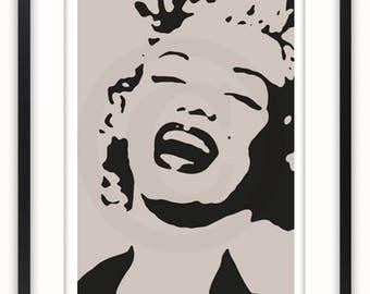 Marilyn Monroe Stencil -  Poster