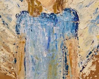 85- Angel in Blue Dress (16.5x15x1)