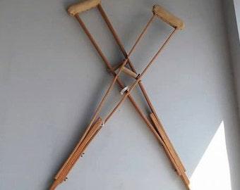 Vintage Wooden Crutches
