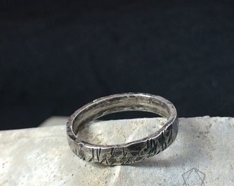 Distressed sterling silver ring - stacking ring-