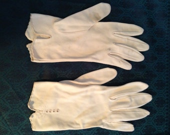 Vintage 1960's Wedding Gloves