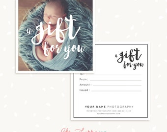Photography gift card template gift certificate template photography gift certificate template photo gift card printable square photoshop template photography yelopaper Image collections