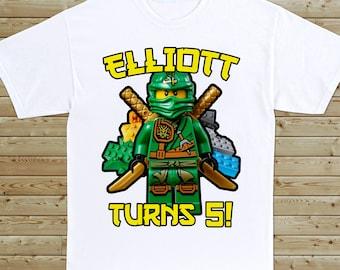 Ninjago Custom Birthday T-Shirt