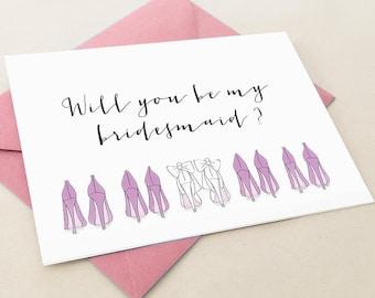 Will you be my bridesmaid card, Bridesmaid proposal card