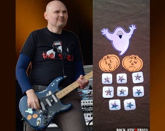Billy Corgan blue Strat stickers replica Smashing Pumpkins guitar decal ghost set 11