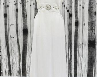 HANNAH- Genuine Vintage 1980s Embellished Wedding Dress