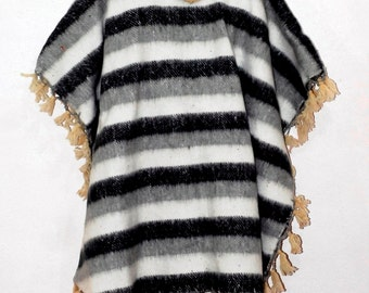 SALE!!! Wool Overcoat Mexican wool Poncho