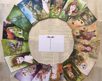 Custom art postcards
