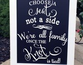 Pick A Seat Sign - Wedding Seating Sign - Seating Signs - Wedding Signs - Wedding Chalkboard Sign - Rustic Wedding Signs - Wedding Sign