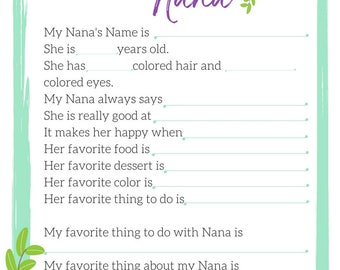 All about Nana or Grandma