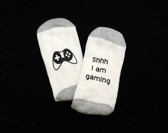 Gamer Socks - Gifts for Gamers - Funny Socks for Men - Gifts for Teens - Video Game - Gift for Him - Wine Socks - Sock - Teenager Gifts