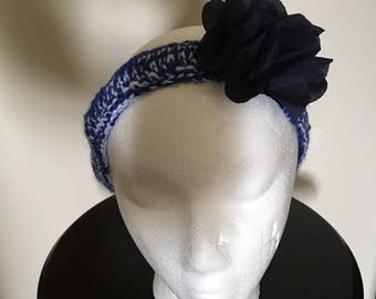 Handmade Crocheted Headband with flower