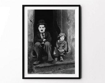 Charlie Chaplin, Photography Art, Photography Poster, Photography Print, Movie Prints, Artwork, Printable Art, Charlie Chaplin Poster, Art